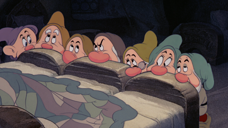 The Seven Dwarfs from 'Snow White'