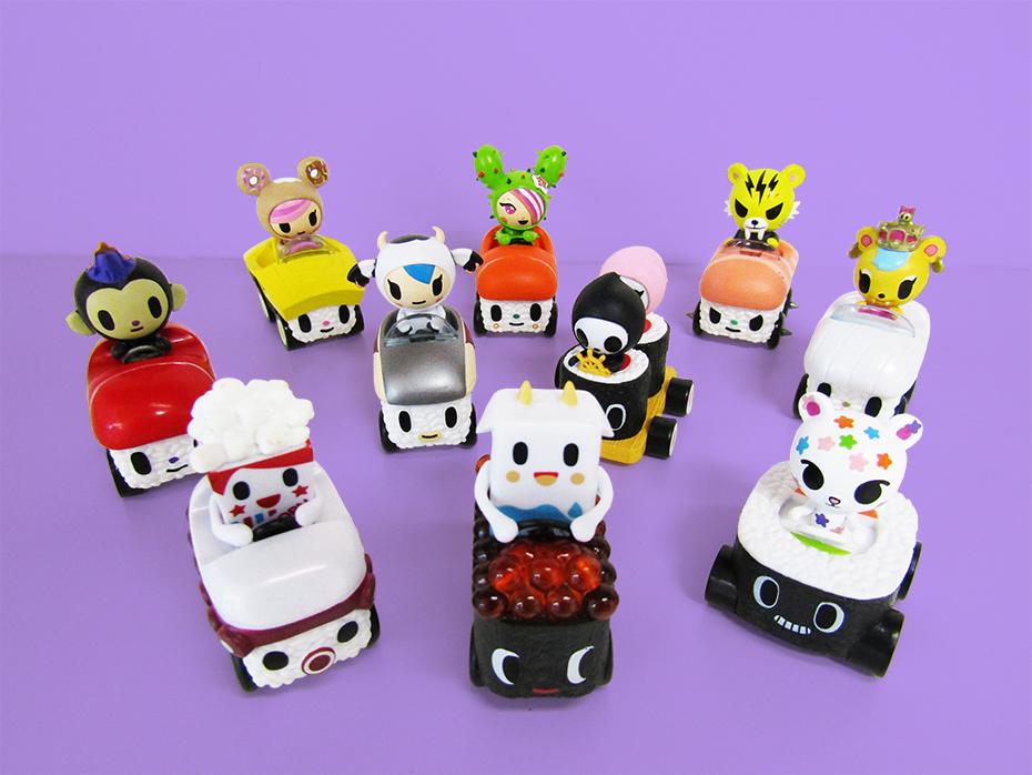Tokidoki sushi cars scattered