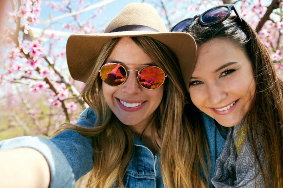 Two girls taking a selfie together