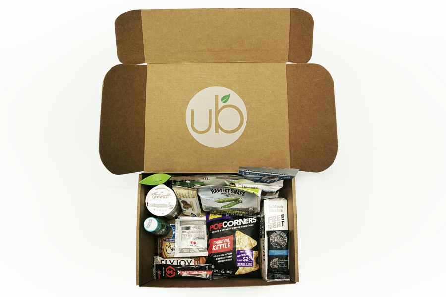 Urth box full of organic goods