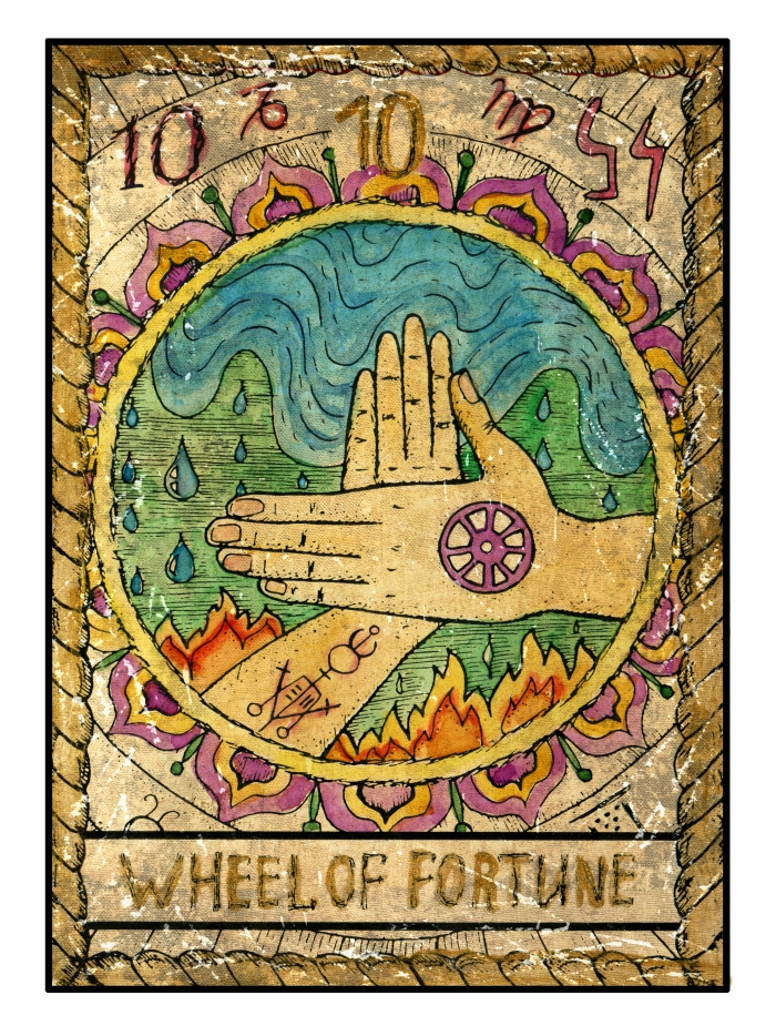 Tarot cards the wheel of fortune
