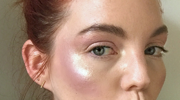 Glitter strobing trend purple gold glitter eyeshadow