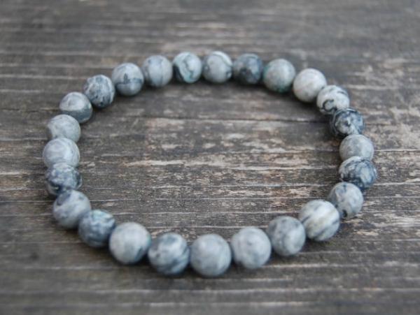 Agate power bead bracelet