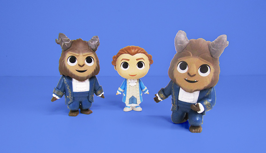 Beauty and the Beast Funko mystery minis beast, beast bowing and prince adam as a human