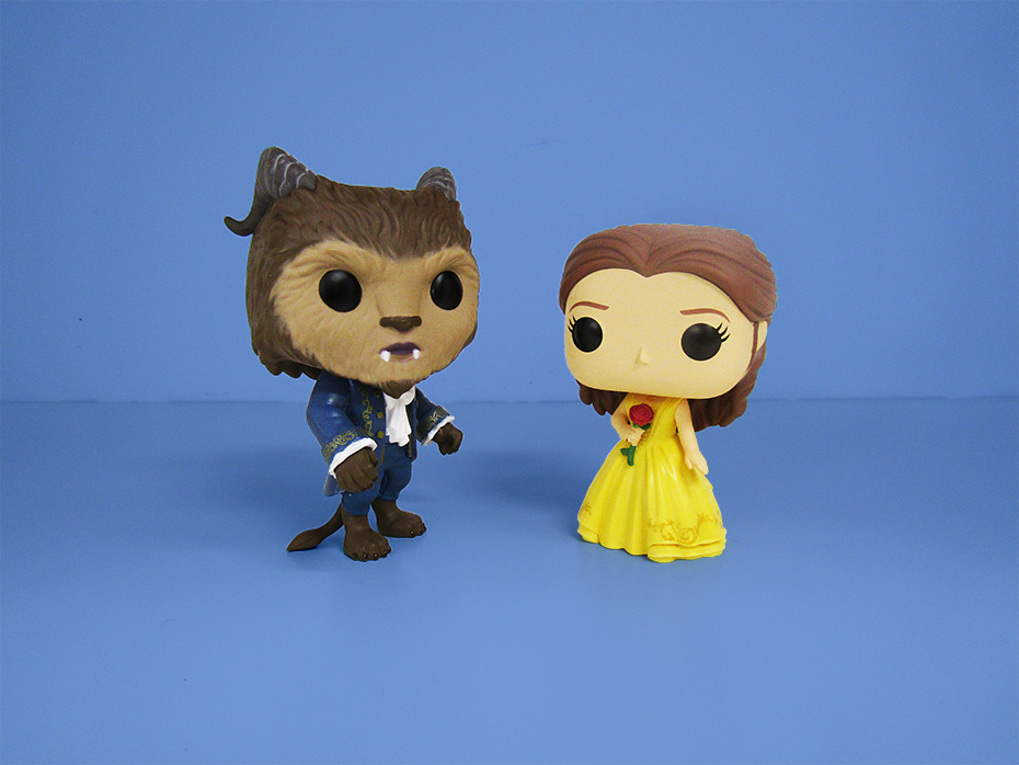 Beauty and the Beast Funko pop vinyl beast and belle