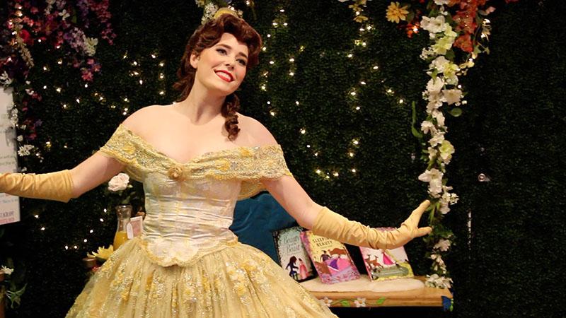 Girl dressed as Belle