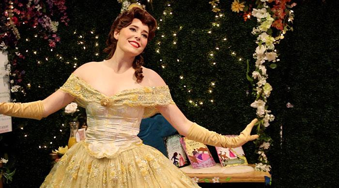 Girl dressed as Princess Belle
