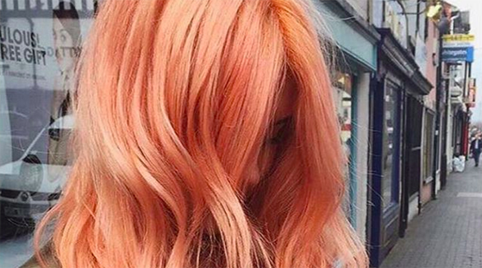 Girl with blorange hair