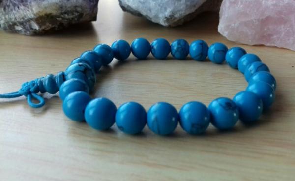 Blue howlite power bead bracelet