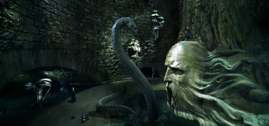 Harry Potter still of Basilisk