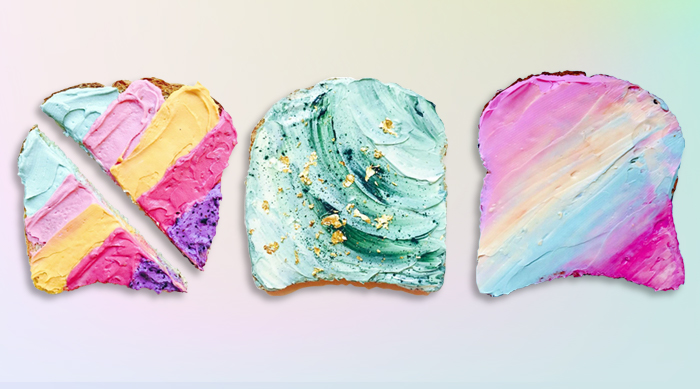 Unicorn and mermaid toast