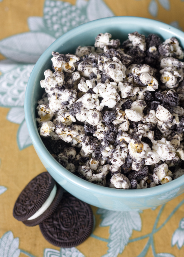cookies and cream-flavored popcorn