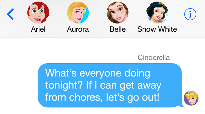 Disney Princess group chat