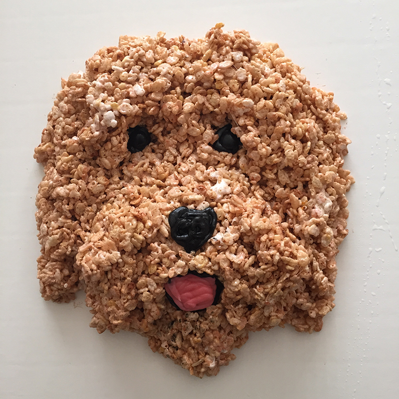 Dog made of Rice Krispies Treats