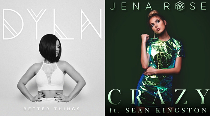"Cover art of DYLN's ""Better Things"" and Jenna Roses' ""Crazy"""