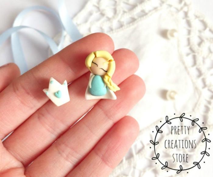 Elsa-inspired earrings