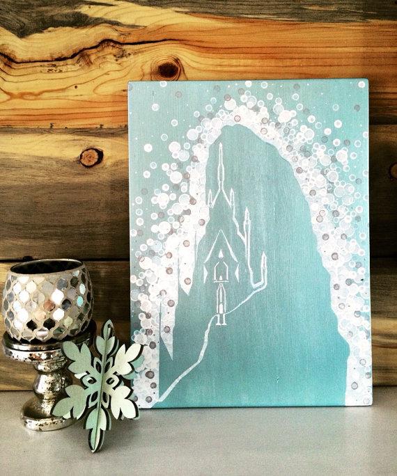 Elsa's ice castle painting