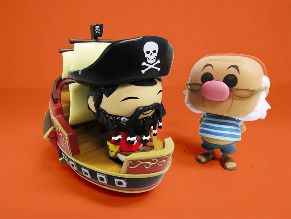 Funko Disney Tesouros Pirate Cove Sneak Peek: Wicked Wench Capitão e Sr. Smee
