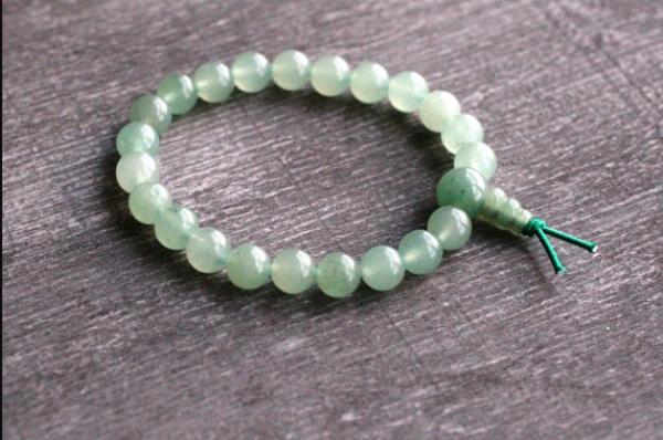Green aventurine power bead bracelet