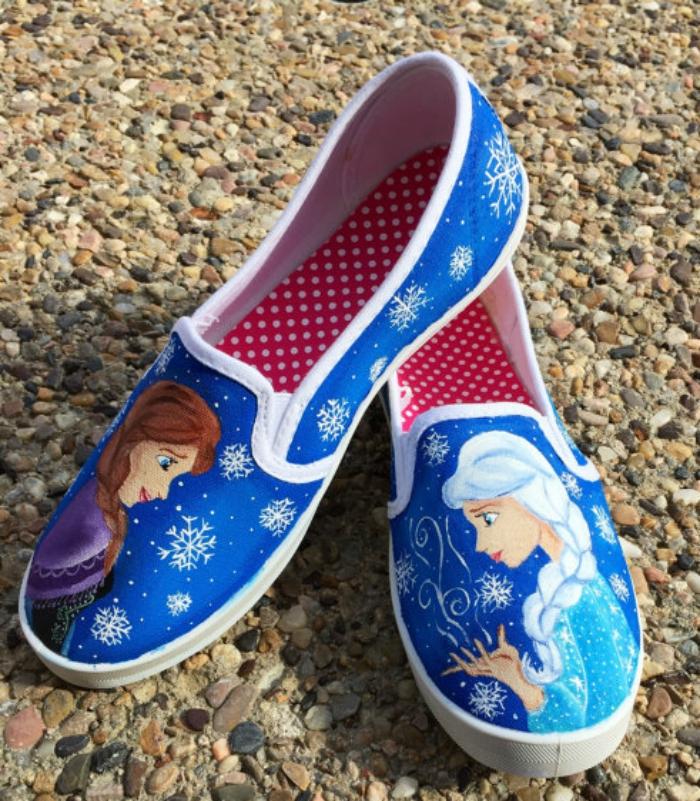 Handpainted 'Frozen' shoes