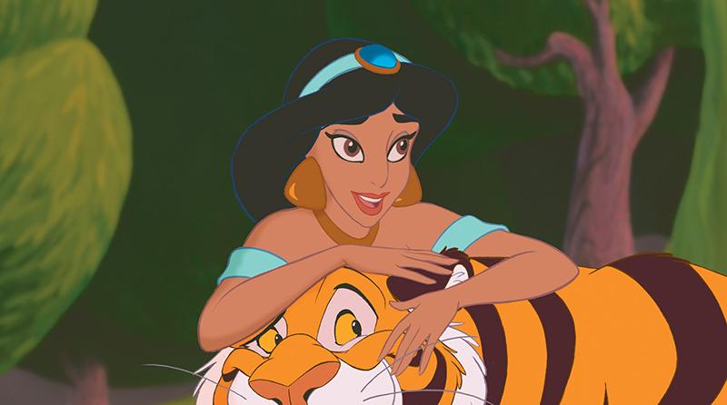 Princess Jasmine with her tiger