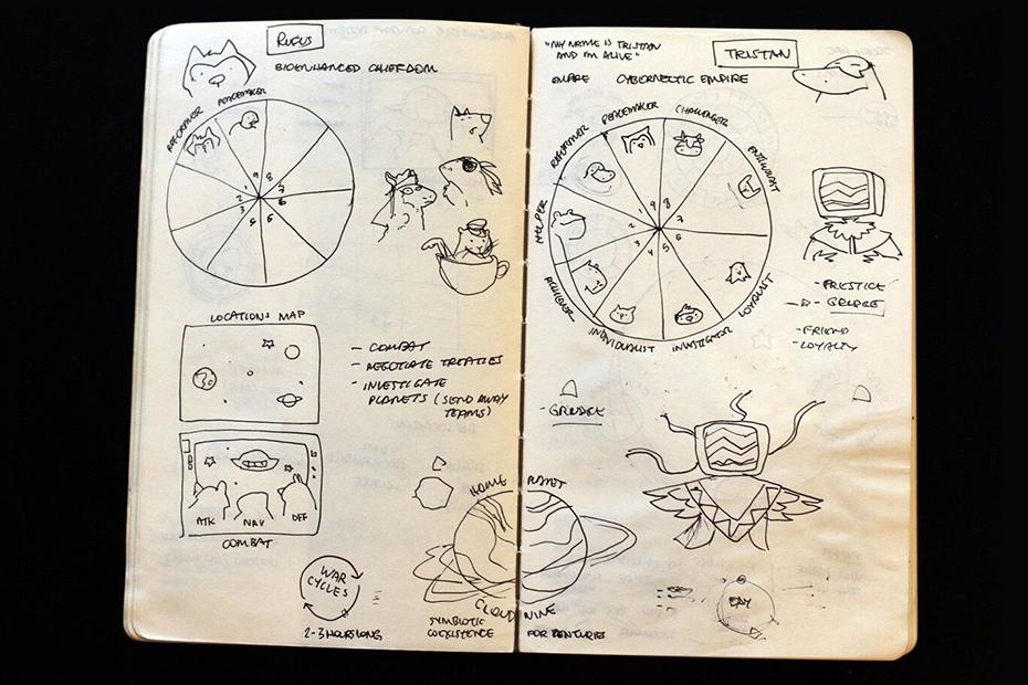 Karen Teixeira Bitmoo illustrations Astroromantica doodles