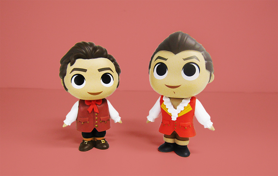 Beauty and the Beast Funko mystery minis vinyl lefou and gaston