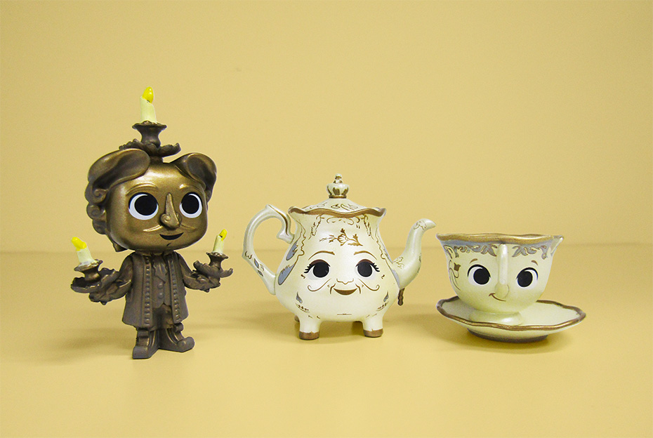 Beauty and the Beast Funko mystery minis vinyl figures lumiere, mrs potts and chip
