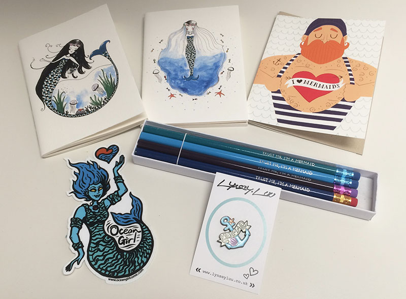 Mermaid-inspired items featured in MerLady subscription box