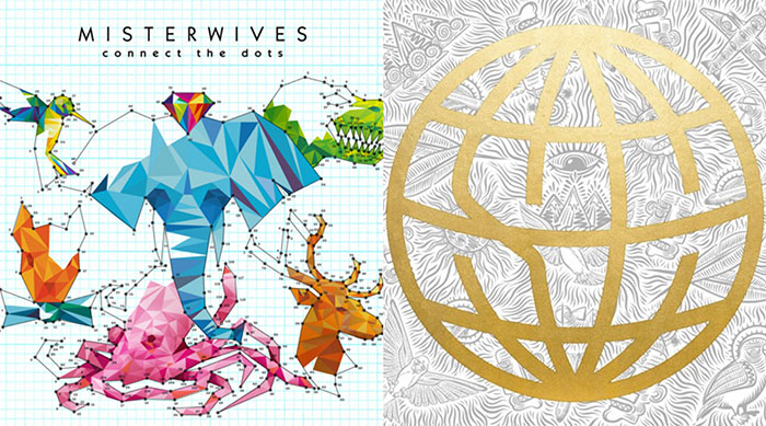 Single artwork for Misterwives' Oh Love next to single artwork for State Champs' Slow Burn