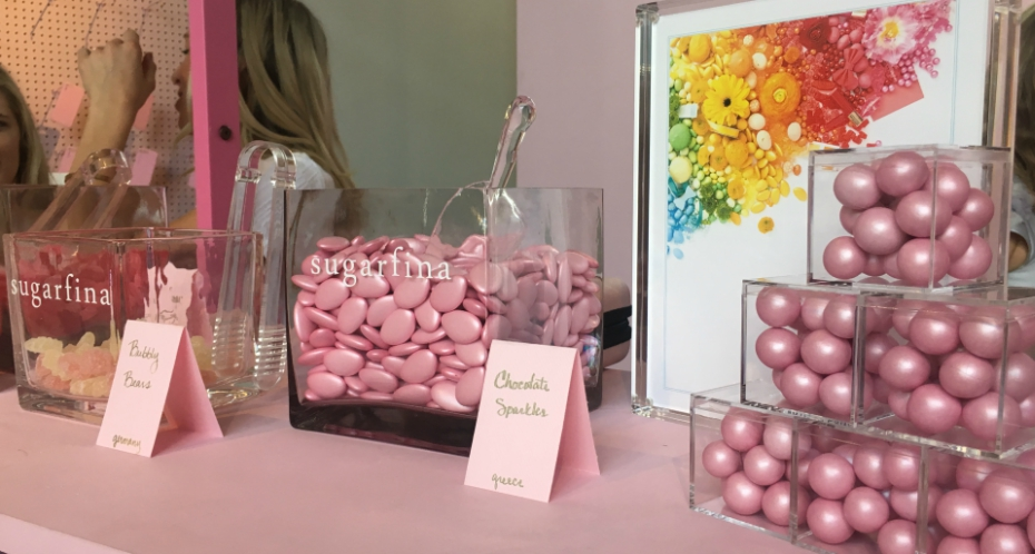 sugarfina candies were on display at popxsuki opening
