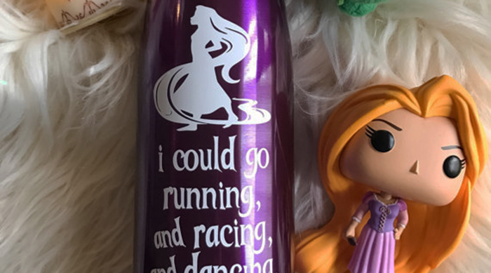 I could go running and racing and dancing and chasing Rapunzel water bottle
