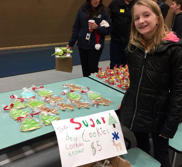Sugar High Score daughter selling cookies