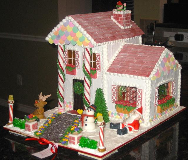 Sugar High Score's first gingerbread house