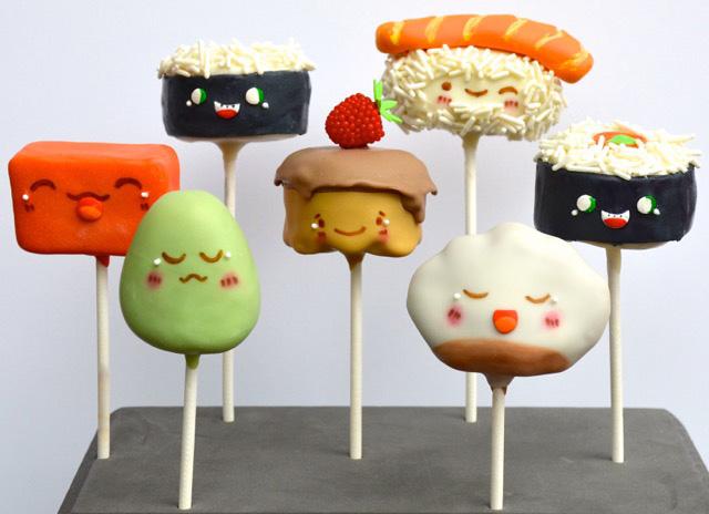Sugar High Score Sushi Go cakepops