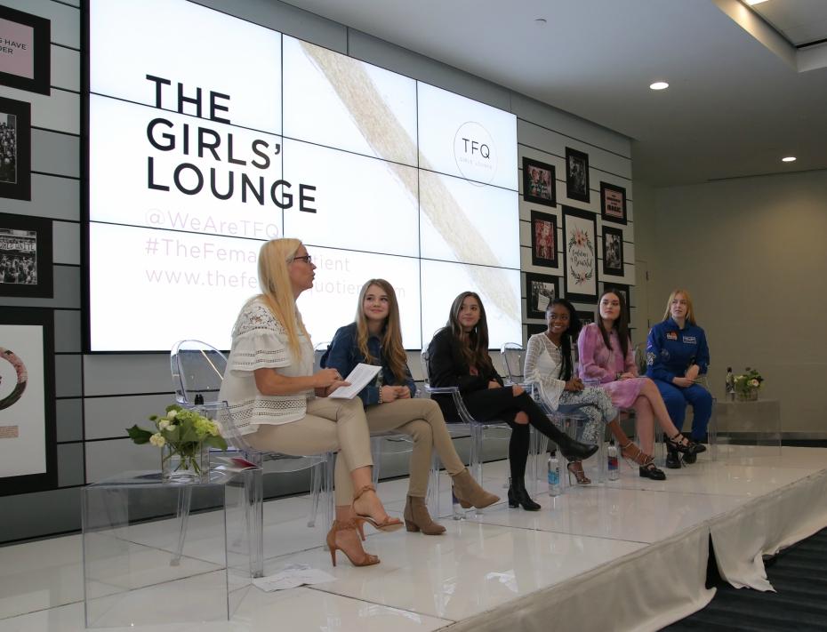 Veronica Zelle, Alexandra Chang, Mackenzie Ziegler, Tegan Marie, Skai Jackson and Astronaut Abby gather for The Girls' Lounge panel at SXSW