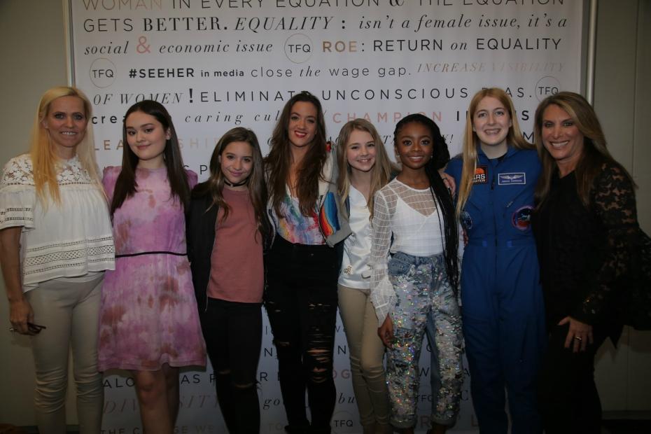 Alexandra Chang, Mackenzie Ziegler, Tegan Marie, Skai Jackson and Astronaut Abby gather for The Girls' Lounge panel at SXSW