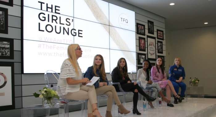 Veronica Zelle, Alexandra Chang, Mackenzie Ziegler, Tegan Marie, Skai Jackson and Astronaut Abby gather for The Girls' Lounge panel at SXSW