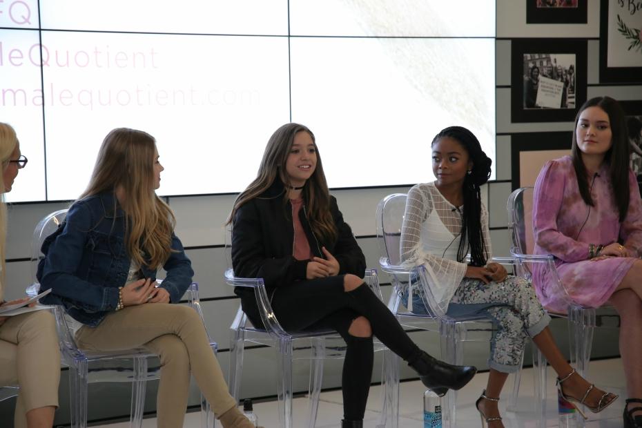 Mackenzie Ziegler chats at The Girls' Lounge panel at SXSW