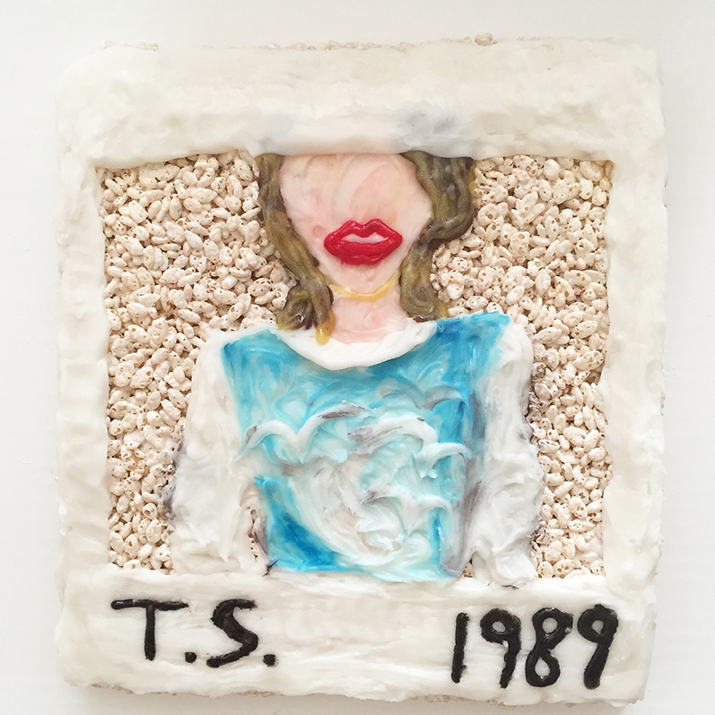 Taylor Swift's 1989 album art made out of Rice Krispies Treats