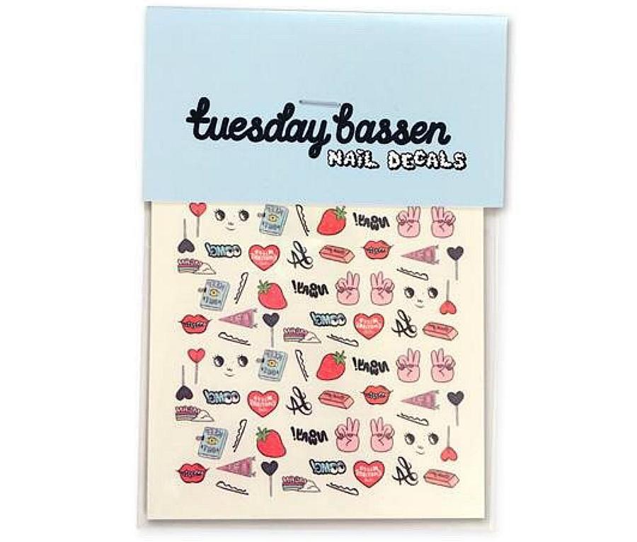Tuesday Bassen pin nail decals