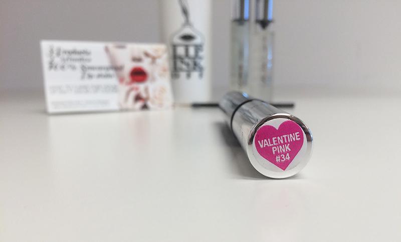 Lip Ink's smearproof lip stain in Valentine Pink