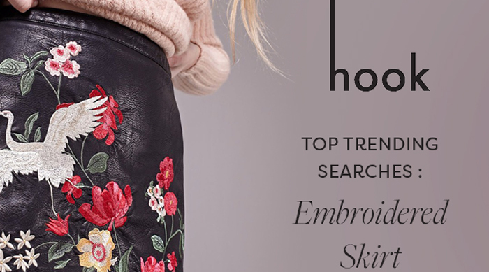 Hook App Embroidered Skirts
