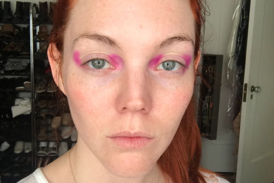 Step 1 Pink Eyeshadow
