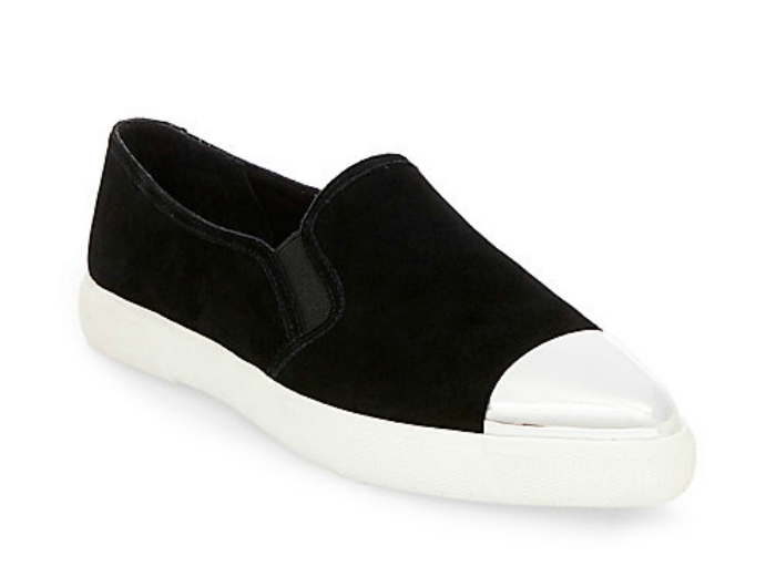 Black Suede Slip Ons from Steve Madden