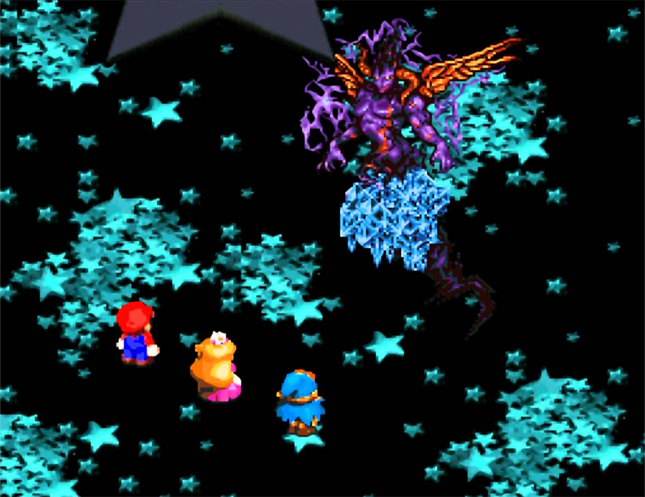 Super Mario RPG Culex fight