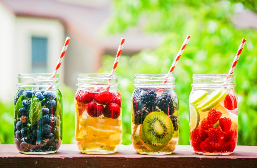 Detox water with fruit