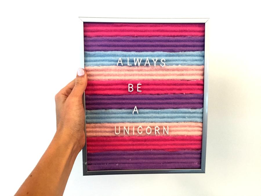 final prodcut unicorn diy felt letter board