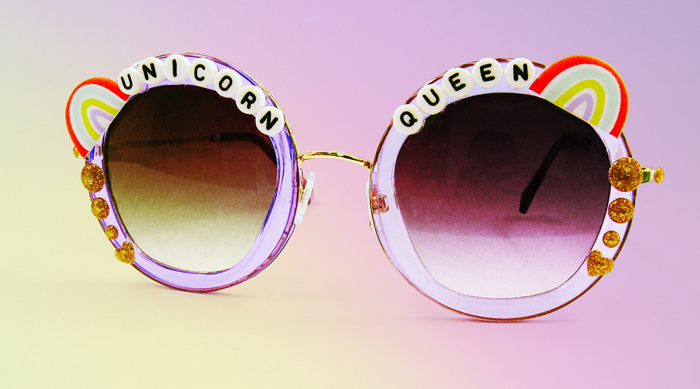 DIY Unicorn Queen Sunglasses