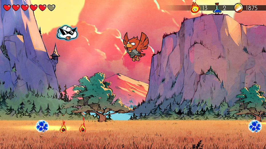Wonder Boy: The Dragon's Trap hawk